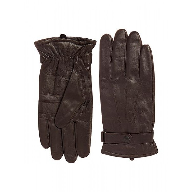 Dark brown Goat leather winter gloves for driving