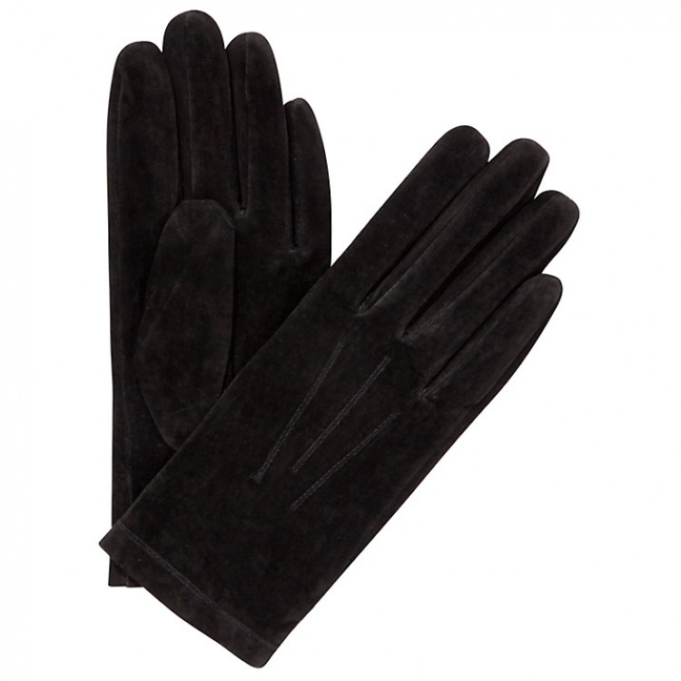 Ladies black split leather driving gloves