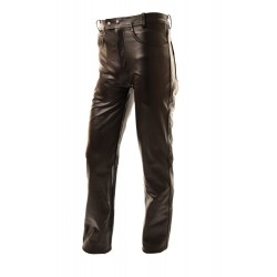 Mens brown cowhide leather pant