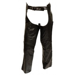 Mens black cowhide leather chap
