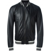 Mens oldman black sheep leather jacket