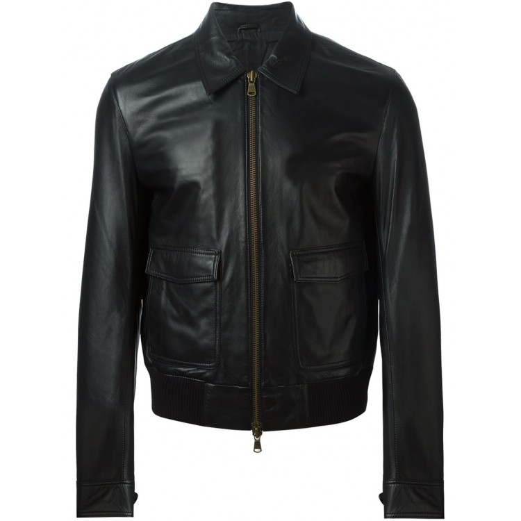 Mens Genuine Sheep Nappa Leather jacket