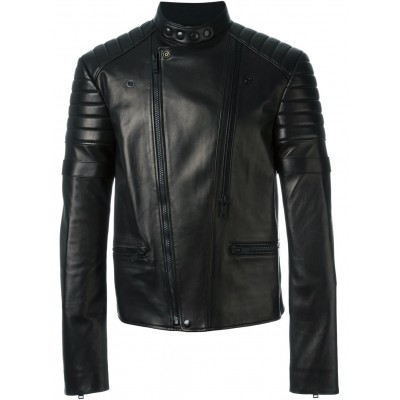 Motorbike Genuine Cowhide leather padded jacket