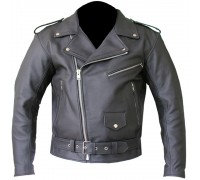 Mens brando cowhide milled leather jacket
