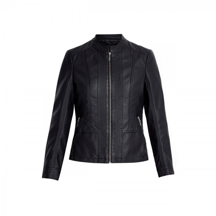 Ladies black sheep fashion straight quilting leather jackets