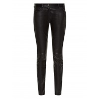 Ladies black cowhide leather trouser