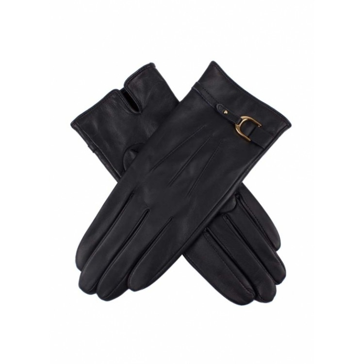 Black sheep leather buckle belt driving gloves