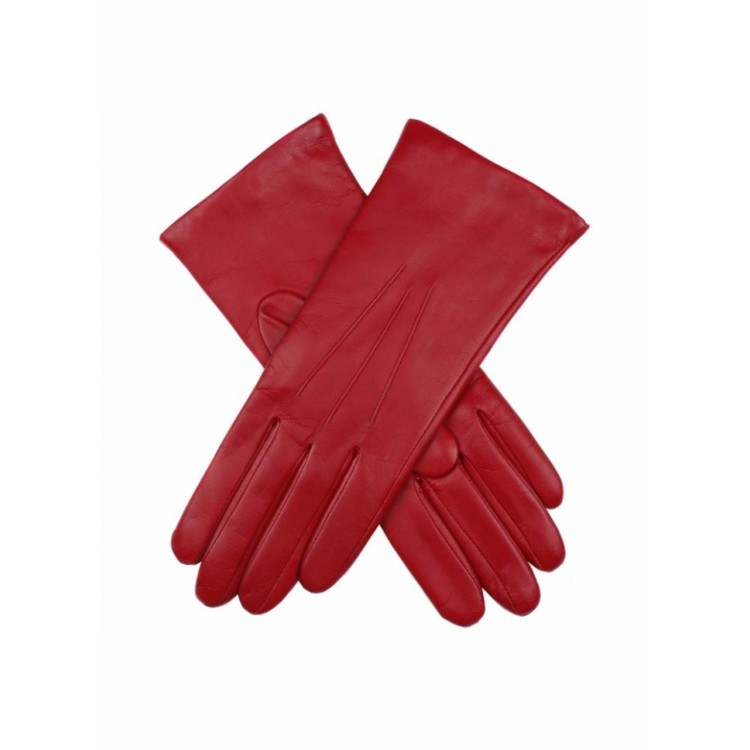 Red Sheep leather driving gloves